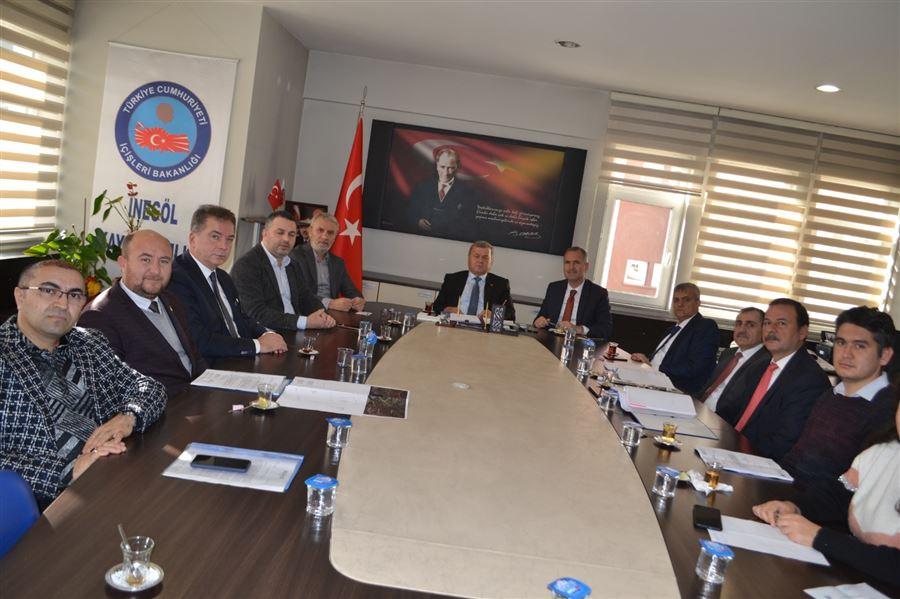 İnegöl Kaymakamı Sayın Şükrü Görücü Başkanlığında İnegöl Gümrük Müdürlüğü Yeni Hizmet Binası Toplantısı