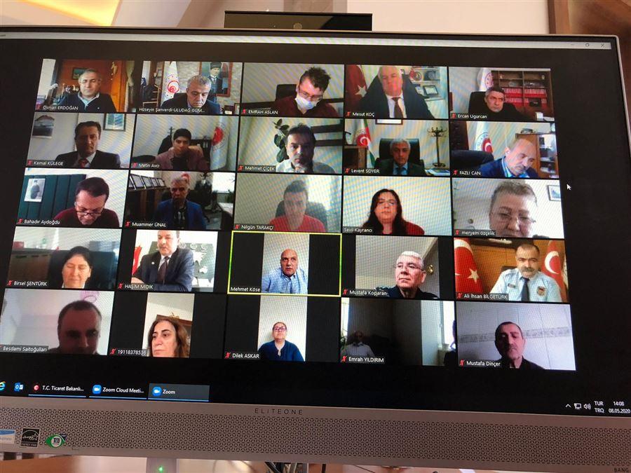 Bölge Müdürümüz Başkanlığında Video Konferans Yapılmıştır