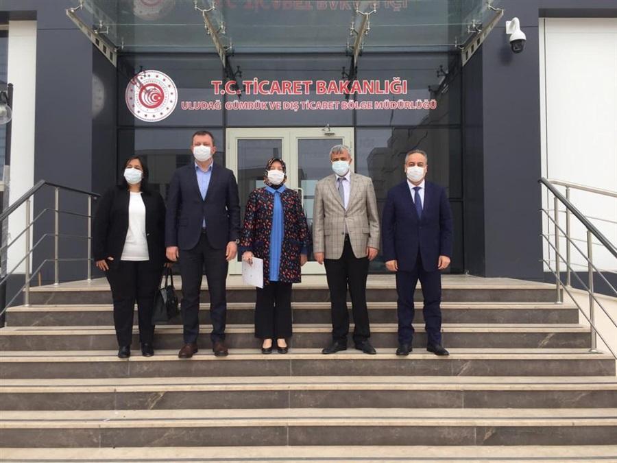 AK Parti Bursa Milletvekili Sayın Emine YAVUZ GÖZGEÇ ve Beraberindeki Heyetin Bölge Müdürlüğümüzü Ziyaretleri