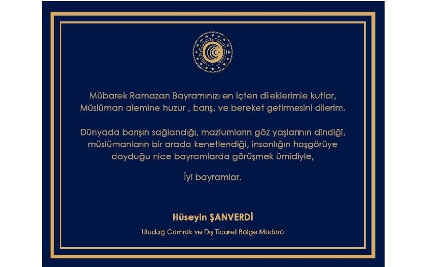 """Bölge Müdürlüğümüzün """"Ramazan Bayramı"""" Mesajı"""